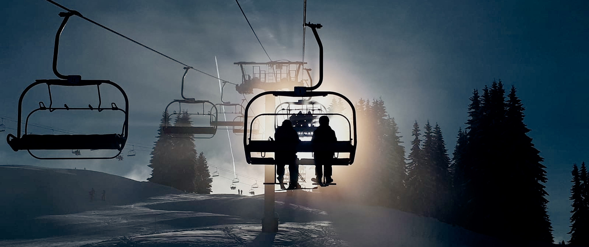 Silhouette of Chairlift